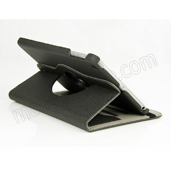 best price 360 Degree Rotary Flip Stand Leather Case for iPad Mini 2 With Reina display - Black