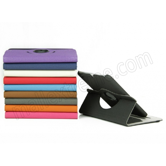 low price 360 Degree Rotary Flip Stand Leather Case for iPad Mini 2 With Reina display - Orange