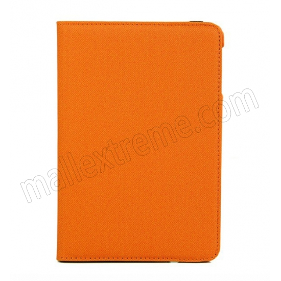 discount 360 Degree Rotary Flip Stand Leather Case for iPad Mini 2 With Reina display - Orange