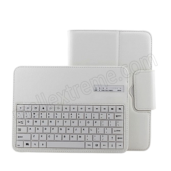 top quality Wireless Bluetooth Keyboard Stand Case for Samsung Galaxy Note 10.1 2014 Edition P600 - White