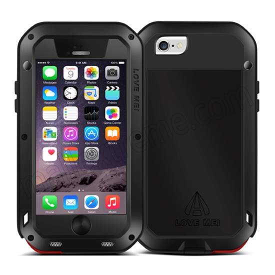 cheap Red Best Quality Waterproof Shockproof Aluminum Case For iPhone 6 Plus/6S Plus 5.5 Inch
