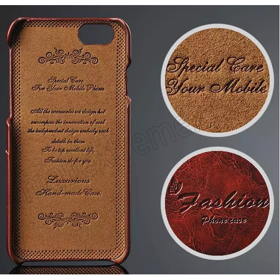 discount Brown Luxury Oil Wax PU Leather Back Cover Card Holder Case For iPhone 6 Plus/6S Plus 5.5 Inch
