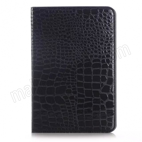 best price Black Crocodile Pattern Two Folding Leather Wallet Case Cover for Samsung Galaxy Tab A 8.0 T350