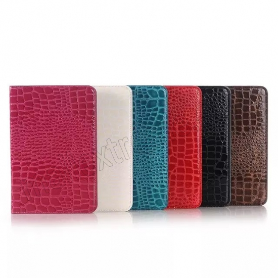 on sale Black Crocodile Pattern Two Folding Leather Wallet Case Cover for Samsung Galaxy Tab A 8.0 T350
