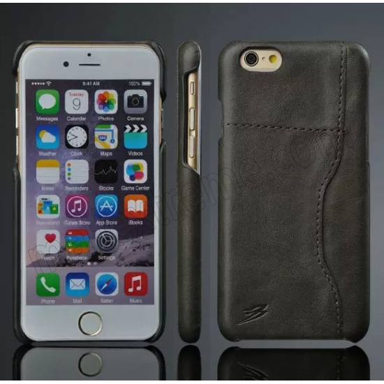 best website 1e88f 71e6c Black Luxury Real Genuine Card Slot Leather Back Case Cover For ...