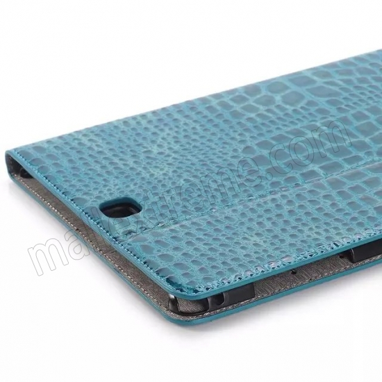 discount Blue Crocodile wallet Leather Case cover for Samsung Galaxy Tab A 9.7 T550 with stand and card slots