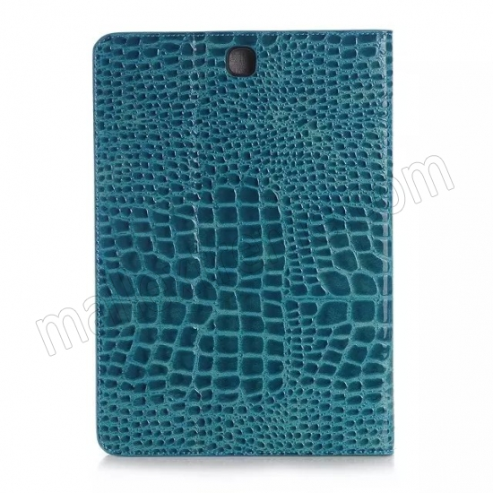 top quality Blue Crocodile wallet Leather Case cover for Samsung Galaxy Tab A 9.7 T550 with stand and card slots