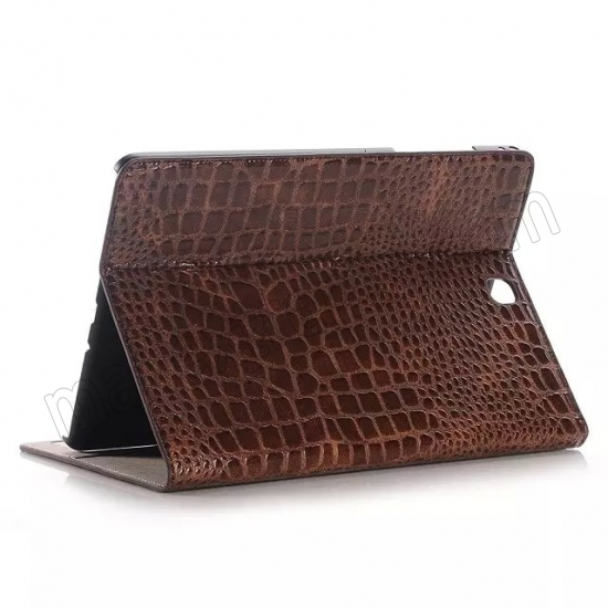 wholesale Brown Crocodile wallet Leather Case cover for Samsung Galaxy Tab A 9.7 T550 with stand and card slots