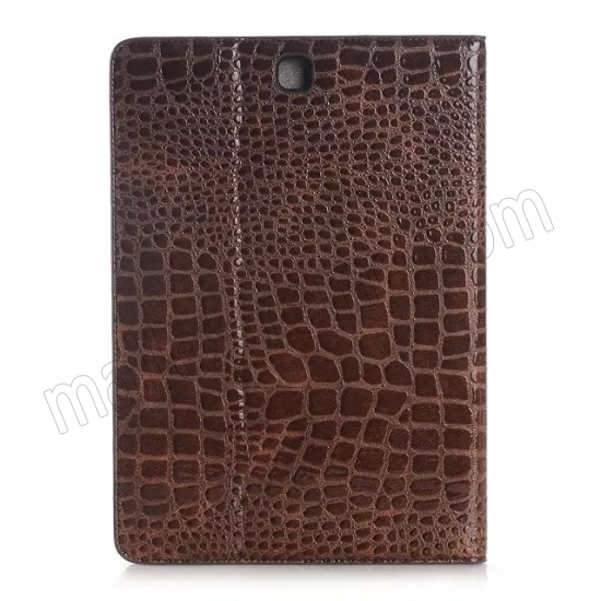discount Brown Crocodile wallet Leather Case cover for Samsung Galaxy Tab A 9.7 T550 with stand and card slots