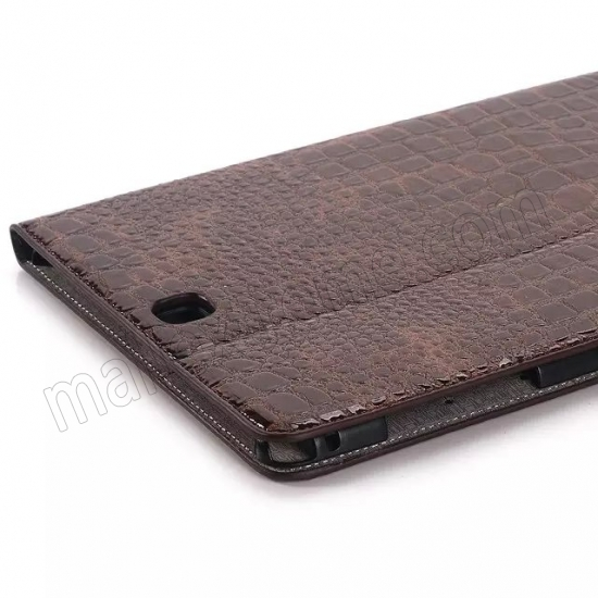 cheap Brown Crocodile wallet Leather Case cover for Samsung Galaxy Tab A 9.7 T550 with stand and card slots