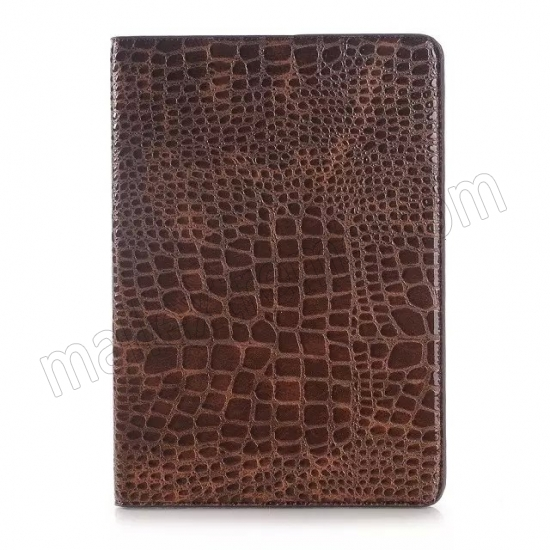 on sale Brown Crocodile wallet Leather Case cover for Samsung Galaxy Tab A 9.7 T550 with stand and card slots