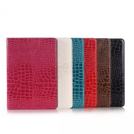 high quanlity Brown Crocodile wallet Leather Case cover for Samsung Galaxy Tab A 9.7 T550 with stand and card slots