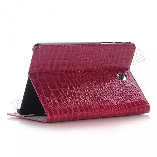 wholesale Rose Crocodile Pattern Two Folding Leather Wallet Case Cover for Samsung Galaxy Tab A 8.0 T350