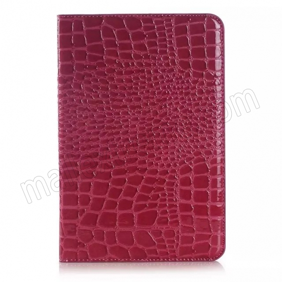 on sale Rose Crocodile Pattern Two Folding Leather Wallet Case Cover for Samsung Galaxy Tab A 8.0 T350