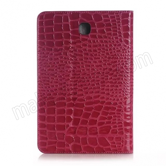 best price Rose Crocodile Pattern Two Folding Leather Wallet Case Cover for Samsung Galaxy Tab A 8.0 T350