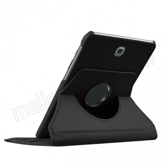 top quality Black 360 Rotating Leather Stand Case Cover for Samsung Galaxy Tab S2 9.7 T815