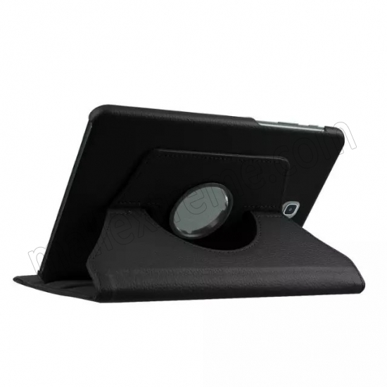 cheap Black 360 Rotating Leather Stand Case Cover for Samsung Galaxy Tab S2 9.7 T815