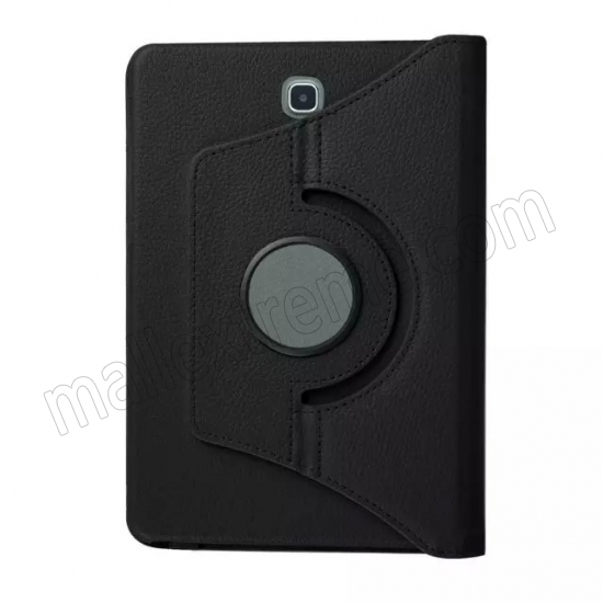 on sale Black 360 Rotating Leather Stand Case Cover for Samsung Galaxy Tab S2 9.7 T815