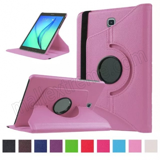 wholesale Pink 360 Rotating Leather Stand Case Cover for Samsung Galaxy Tab S2 9.7 T815