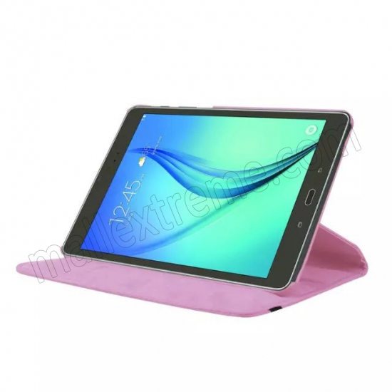 discount Pink 360 Rotating Leather Stand Case Cover for Samsung Galaxy Tab S2 9.7 T815