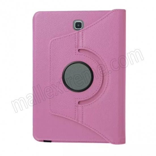 low price Pink 360 Rotating Leather Stand Case Cover for Samsung Galaxy Tab S2 9.7 T815