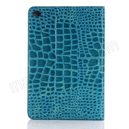 top quality Blue New Crocodile Wallet Leather Case Cover with Stand For Apple iPad mini 4