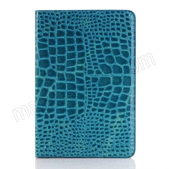 best price Blue New Crocodile Wallet Leather Case Cover with Stand For Apple iPad mini 4