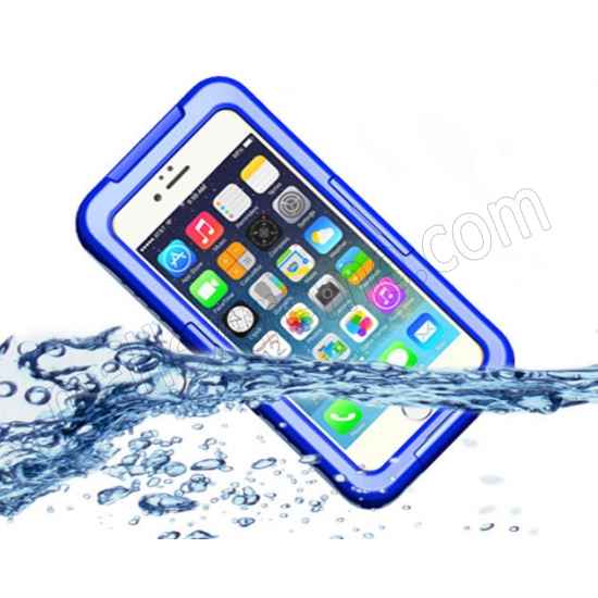 wholesale Blue Waterproof Dirt Snow Proof Full-Protect Diving Case Cover For iPhone 6S Plus