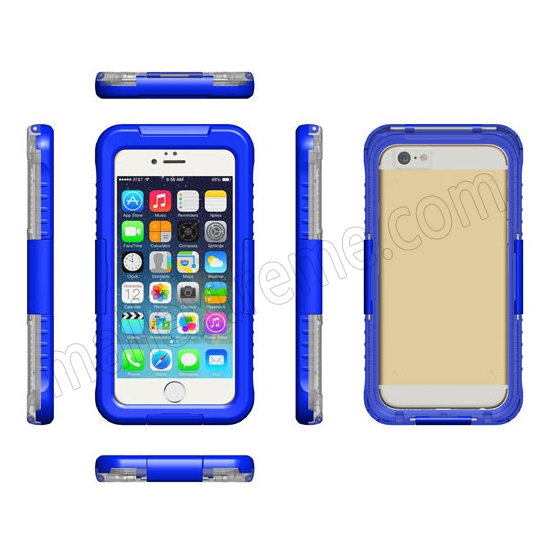 discount Blue Waterproof Dirt Snow Proof Full-Protect Diving Case Cover For iPhone 6S Plus