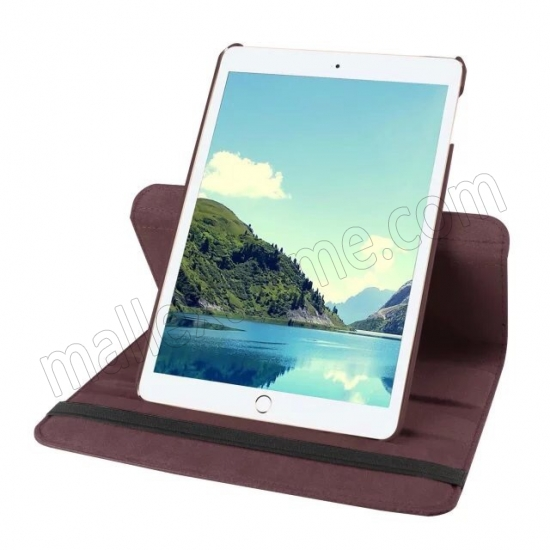 cheap Brown 360 Degrees Rotating Stand PU Leather Smart Case Cover for Apple iPad mini 4
