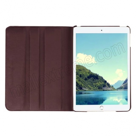 top quality Brown 360 Degrees Rotating Stand PU Leather Smart Case Cover for Apple iPad mini 4