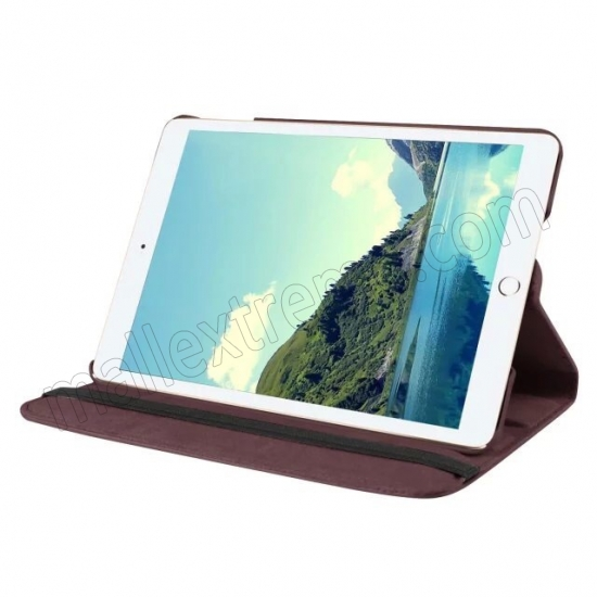 discount Brown 360 Degrees Rotating Stand PU Leather Smart Case Cover for Apple iPad mini 4