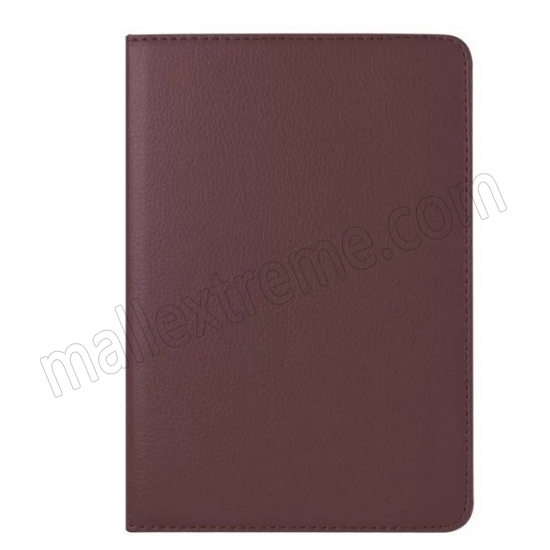 on sale Brown 360 Degrees Rotating Stand PU Leather Smart Case Cover for Apple iPad mini 4