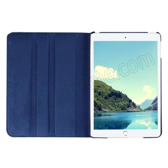 top quality Dark blue 360 Degrees Rotating Stand PU Leather Smart Case Cover for Apple iPad mini 4