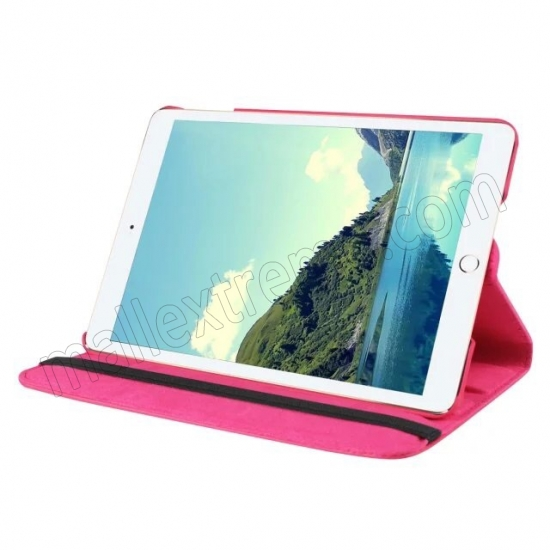 discount Hot pink 360 Degrees Rotating Stand PU Leather Smart Case Cover for Apple iPad mini 4