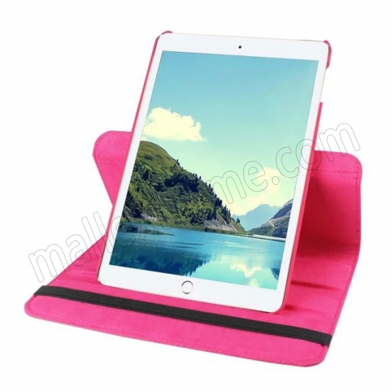cheap Hot pink 360 Degrees Rotating Stand PU Leather Smart Case Cover for Apple iPad mini 4