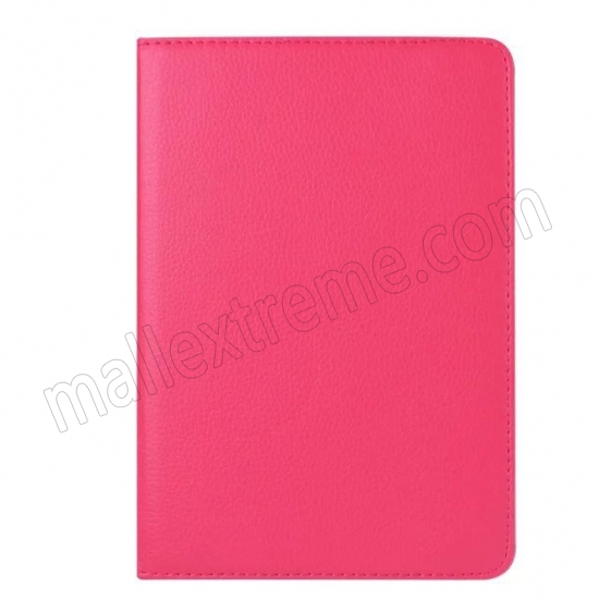 on sale Hot pink 360 Degrees Rotating Stand PU Leather Smart Case Cover for Apple iPad mini 4