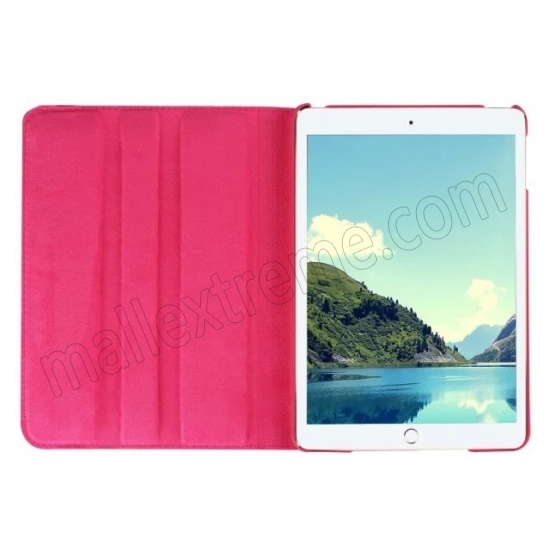 top quality Hot pink 360 Degrees Rotating Stand PU Leather Smart Case Cover for Apple iPad mini 4