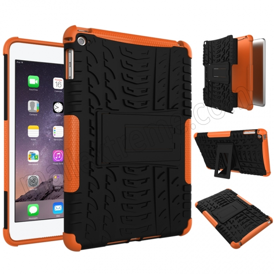 discount Orange 2 In 1 Pattern Shockproof Silicone and PC Hybrid Case for iPad Mini 4
