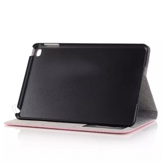 cheap Pink New Crocodile Wallet Leather Case Cover with Stand For Apple iPad mini 4