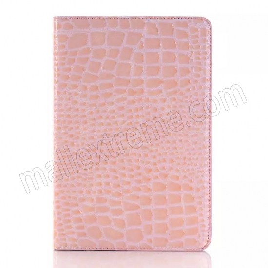 best price Pink New Crocodile Wallet Leather Case Cover with Stand For Apple iPad mini 4