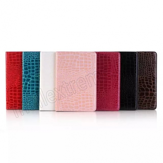 low price Pink New Crocodile Wallet Leather Case Cover with Stand For Apple iPad mini 4