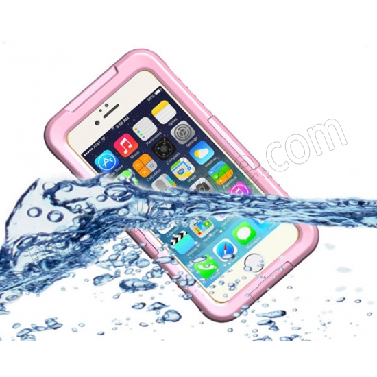 wholesale Pink Waterproof Dirt Snow Proof Full-Protect Diving Case Cover For iPhone 6S Plus