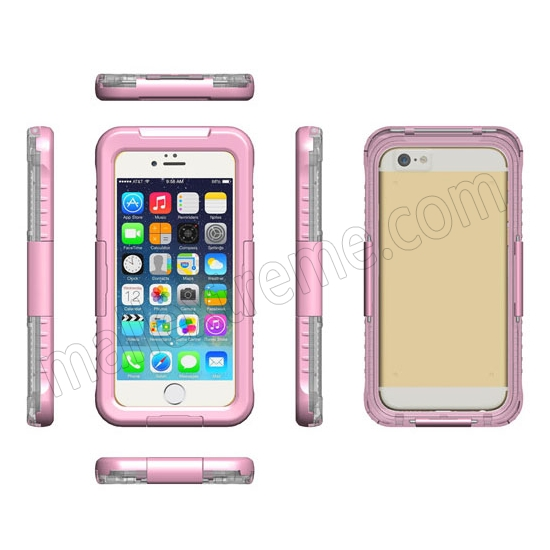 discount Pink Waterproof Dirt Snow Proof Full-Protect Diving Case Cover For iPhone 6S Plus