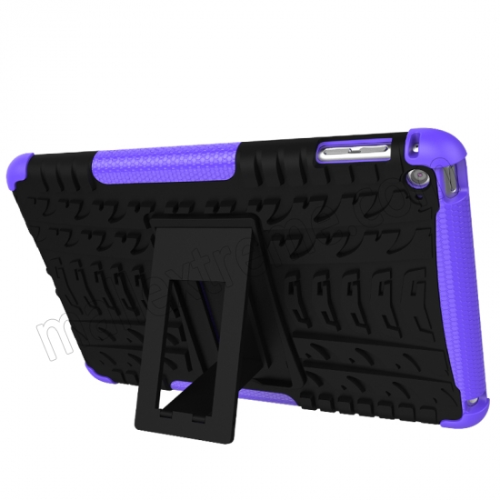top quality Purple 2 In 1 Pattern Shockproof Silicone and PC Hybrid Case for iPad Mini 4