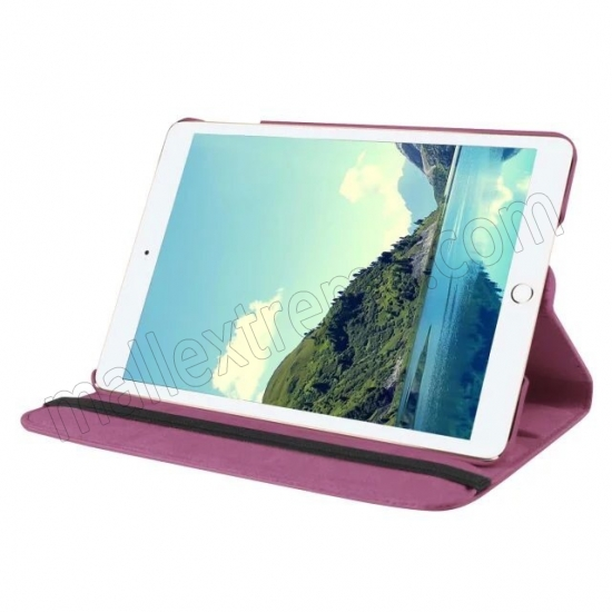 discount Purple 360 Degrees Rotating Stand PU Leather Smart Case Cover for Apple iPad mini 4