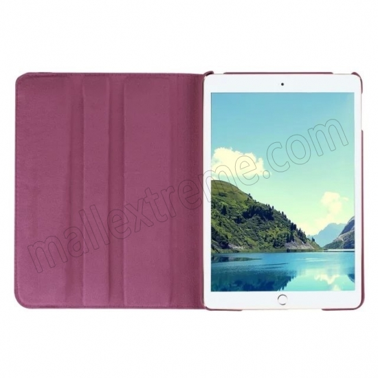 cheap Purple 360 Degrees Rotating Stand PU Leather Smart Case Cover for Apple iPad mini 4