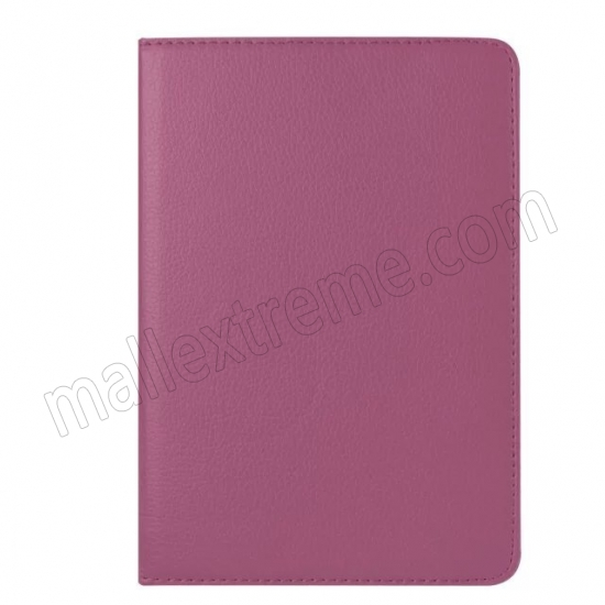 best price Purple 360 Degrees Rotating Stand PU Leather Smart Case Cover for Apple iPad mini 4