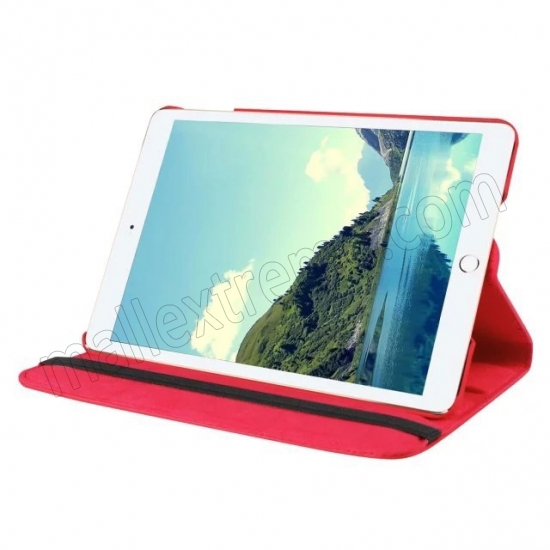 discount Red 360 Degrees Rotating Stand PU Leather Smart Case Cover for Apple iPad mini 4