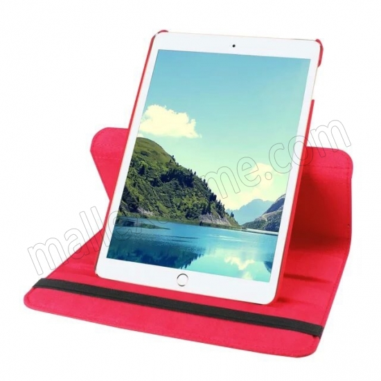 cheap Red 360 Degrees Rotating Stand PU Leather Smart Case Cover for Apple iPad mini 4